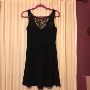 Aqua-Black Cocktail Dress